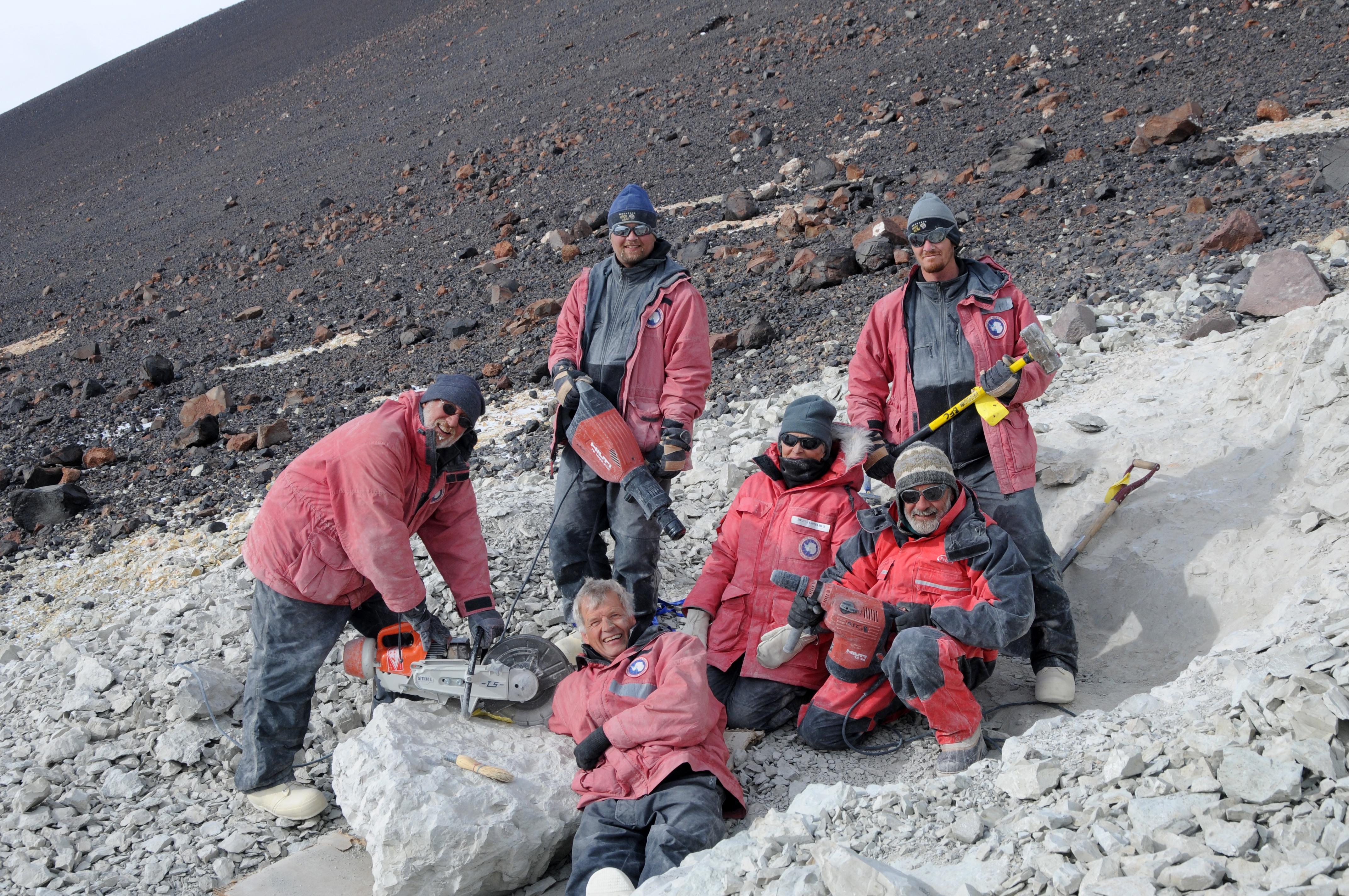 paleontologist crew antarctica