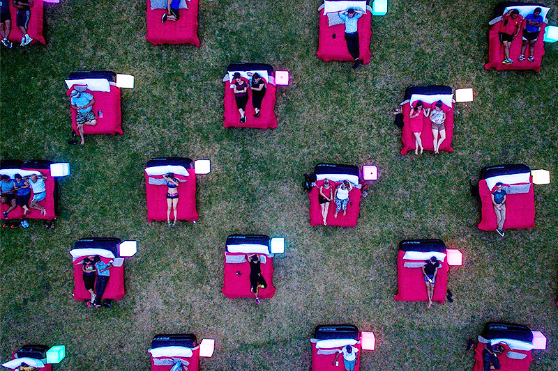 Bed Cinema Is An Outdoor Screening Series With Actual Beds And It S Coming To L A
