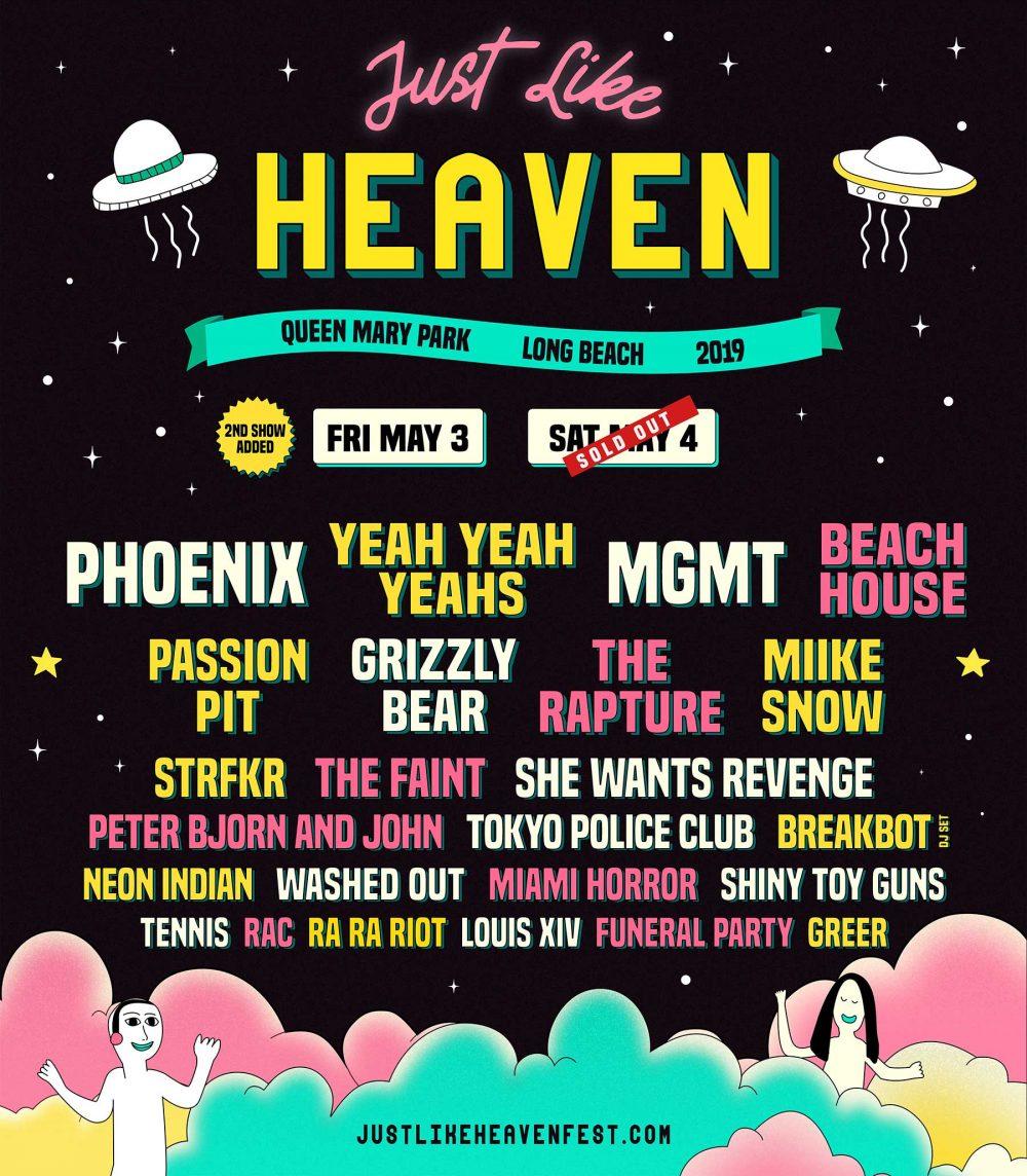 just like heaven phoenix yeah yeah yeahs long beach music festival