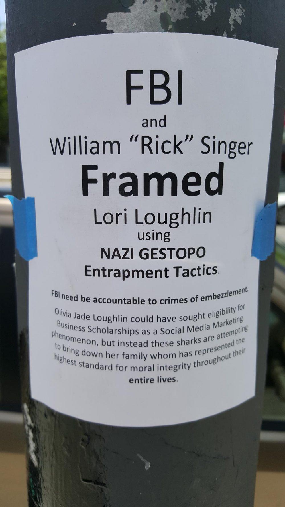 lori loughlin framed flyer