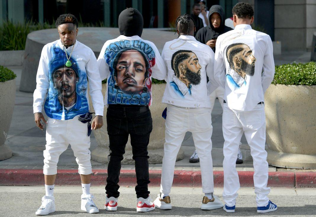 nipsey hussle tribute fashion