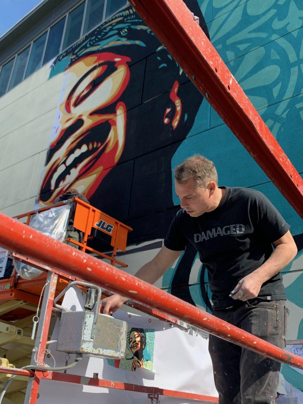 shepard fairey mural maya angelou