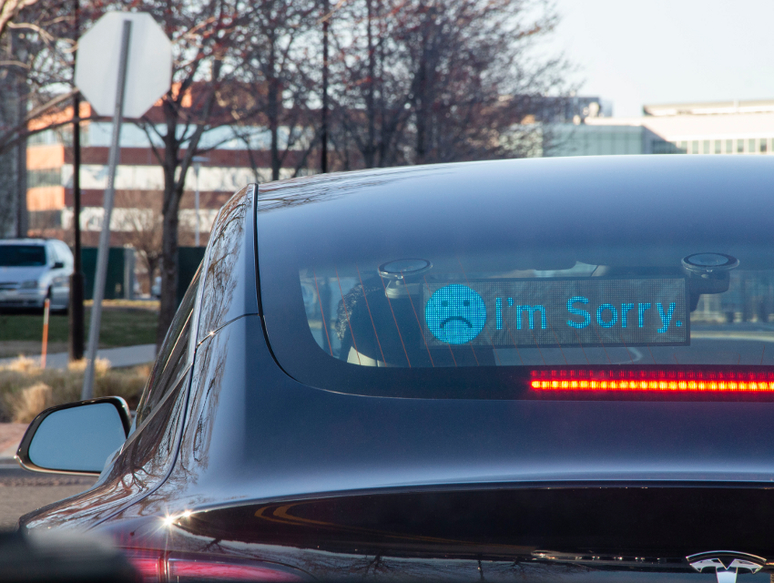 Could Letting Drivers Communicate via LED Screen Help Quell Road Rage?