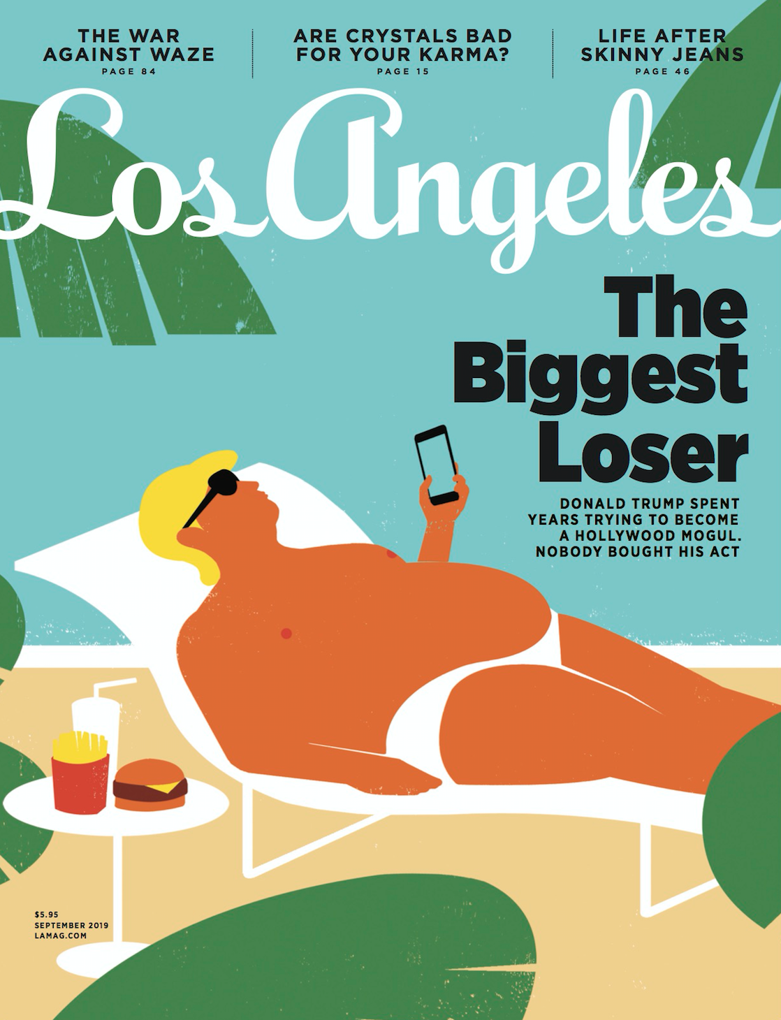 los angeles magazine september 2019 cover trump cover