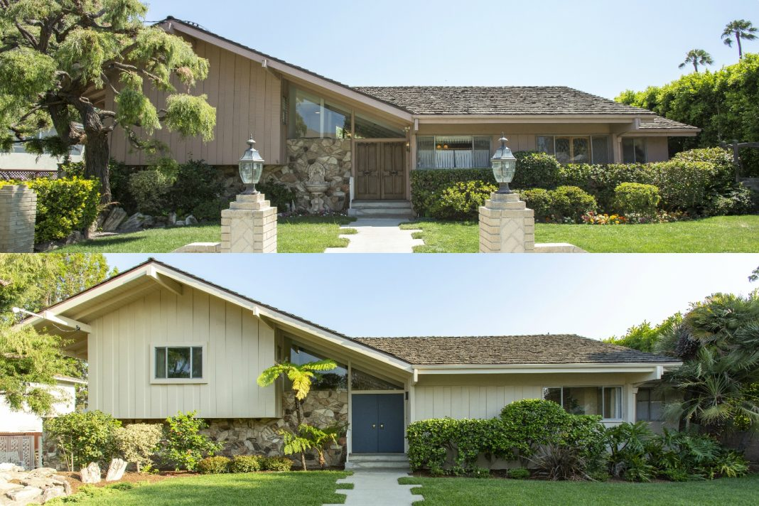 brady bunch house before and after