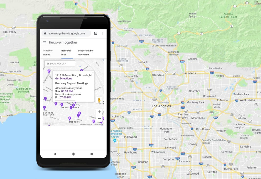 google drug recovery recover together google maps