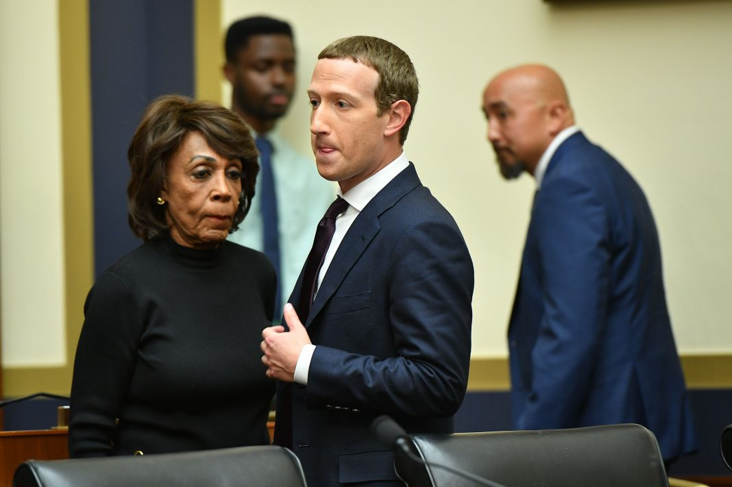 Maxine Waters Mark Zuckerberg Capitol Hill