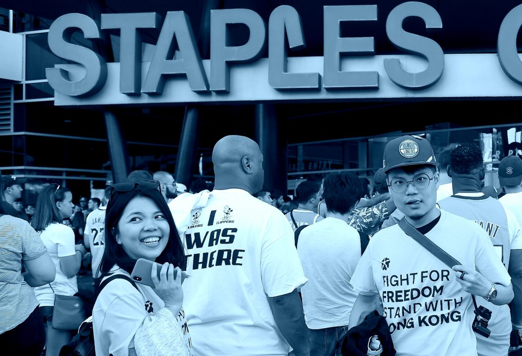 stand with hong kong staples center