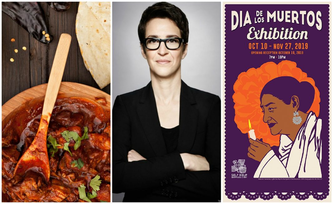 things to do this week rachel maddow dia de los muertos california foodways