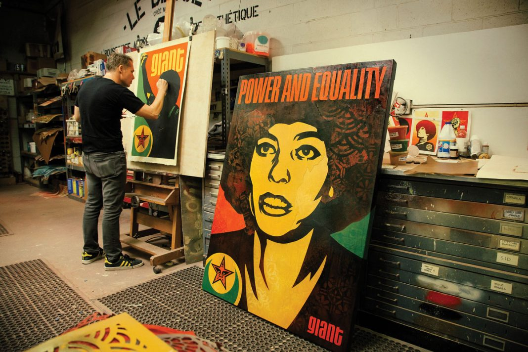 shepard fairey retrospective los angeles