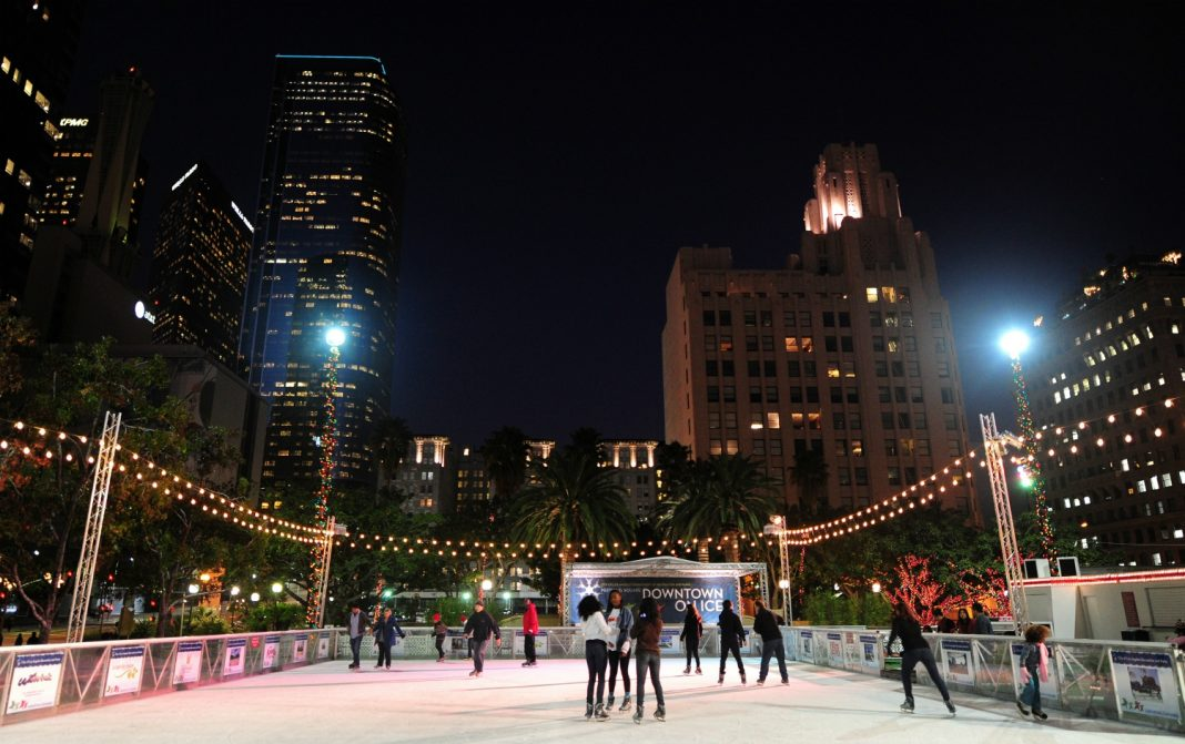 holiday ice skating los angeles