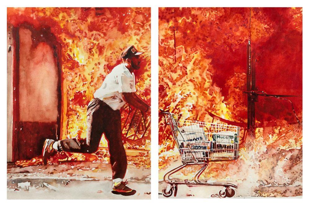 la on fire