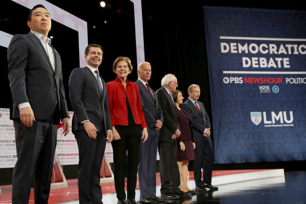 democratic debate labor dispute