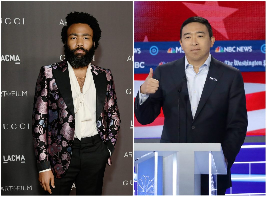 donald glover andrew yang