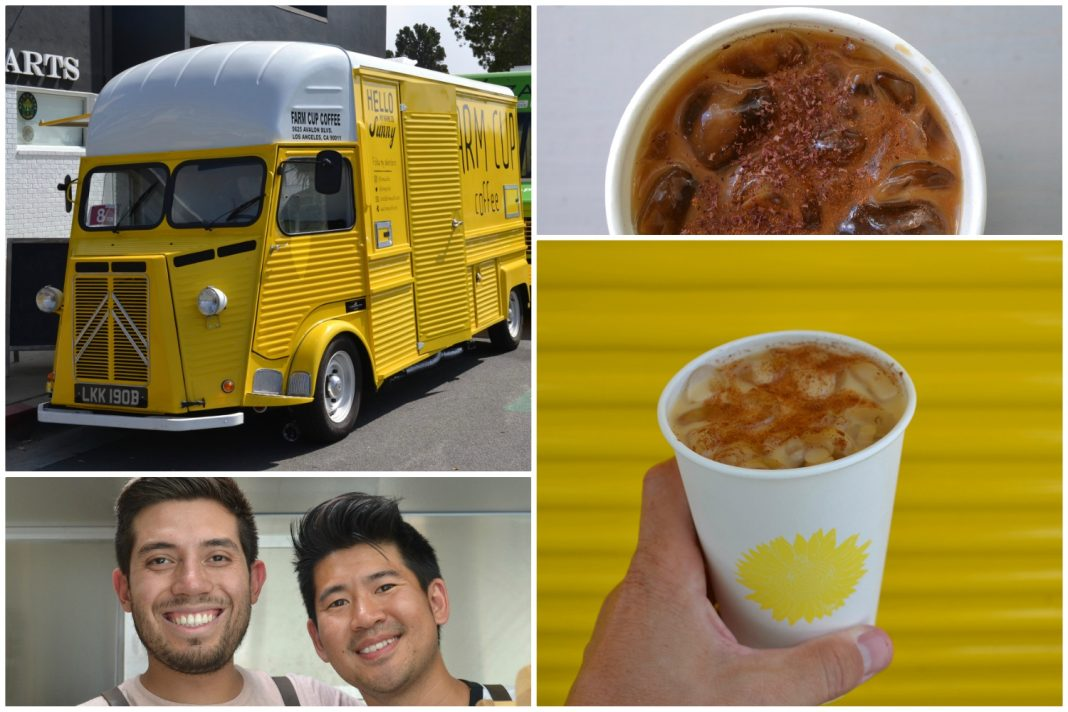 yellow coffee truck