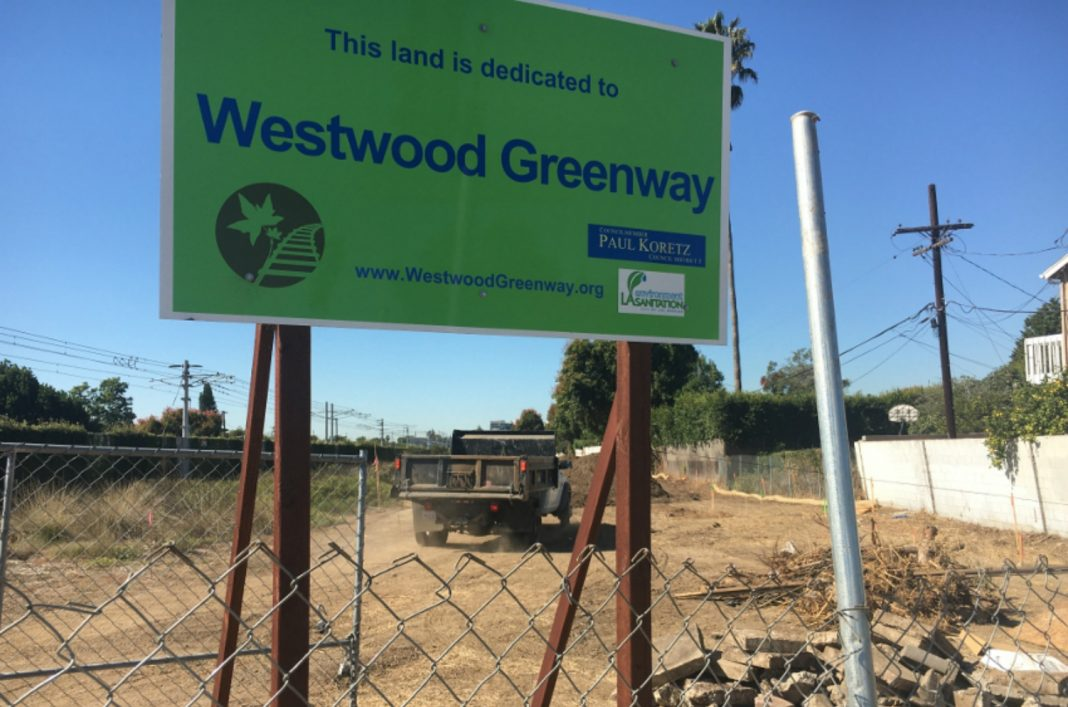 westwood greenway breaks ground