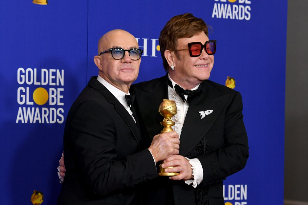indoor sunglasses golden globes elton john bernie taupin