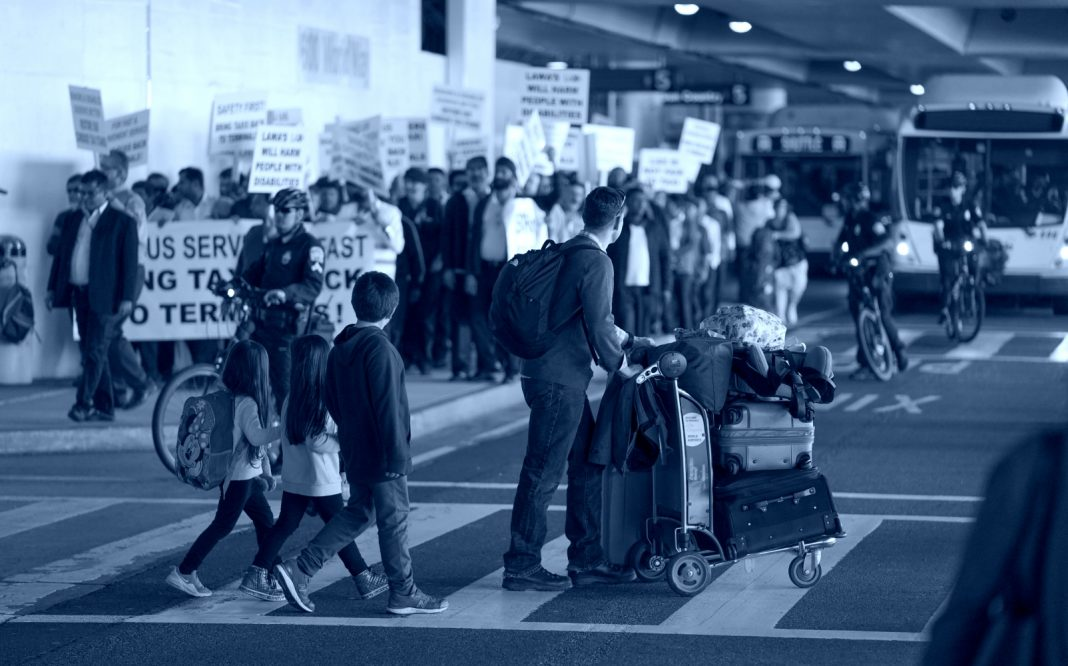 lax taxi protest