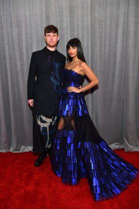 grammy red carpet James Blake and Jameela Jamil
