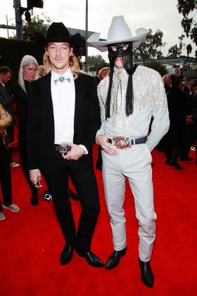 Diplo and Orville Peck grammy red carpet