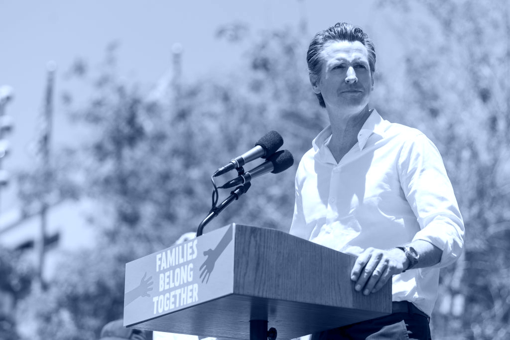 gavin newsom blue