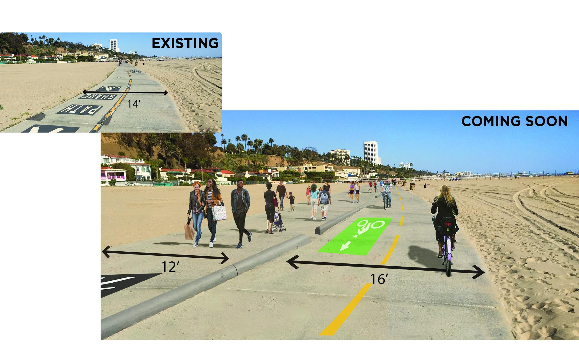 santa monica beach path construction