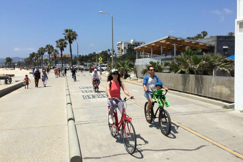 santa monica bike trail construction