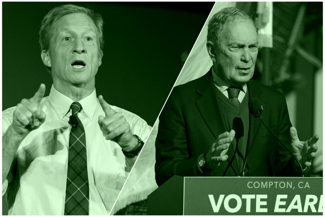 tom steyer mike bloomberg tv ad money california