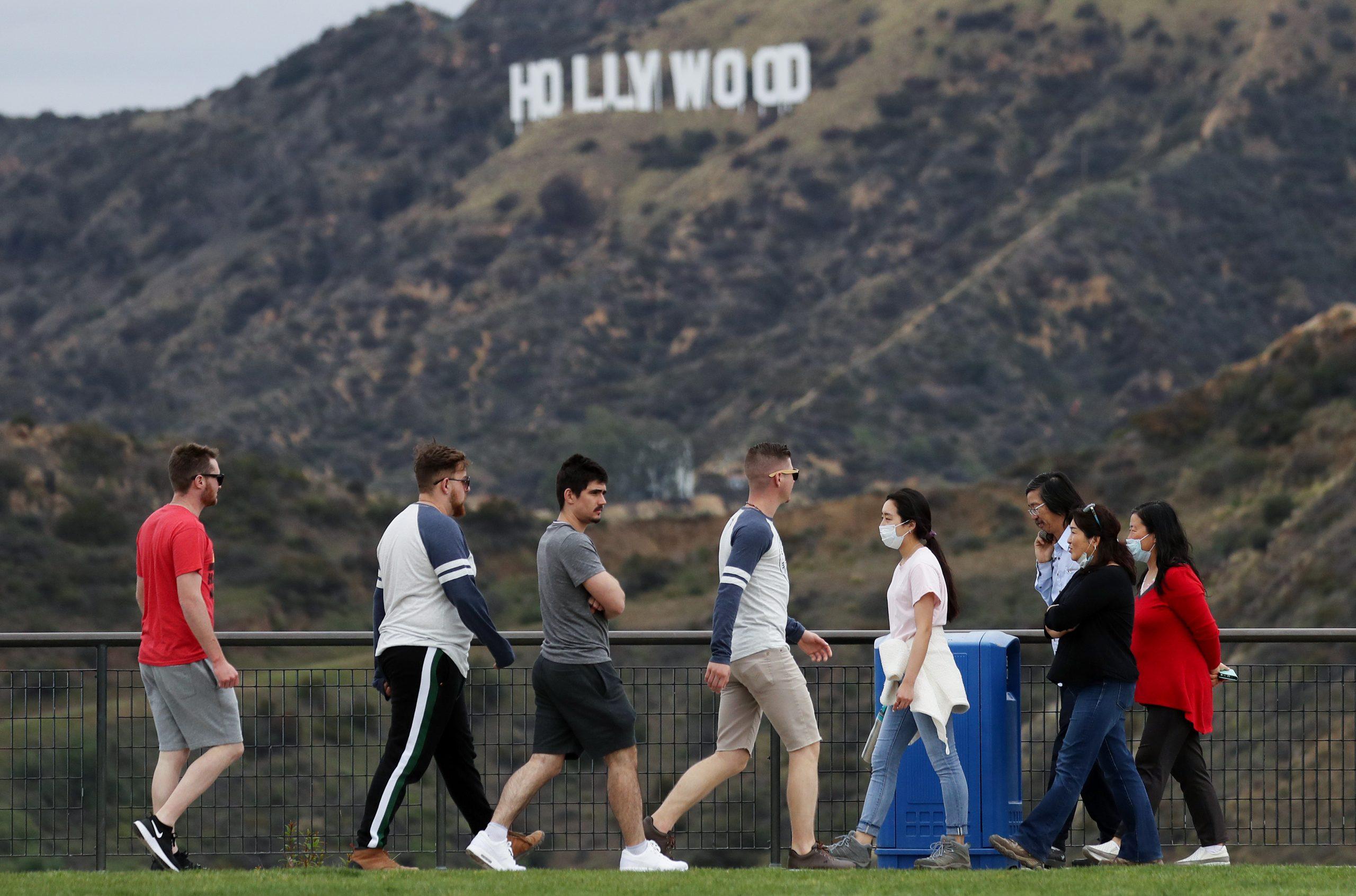 most coronavirus parks close coronavirus social distancing griffith park hollywood sign rlos angeles reopen