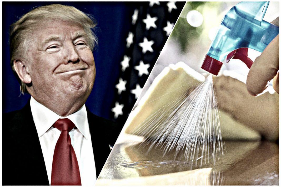 donald trump disinfectant