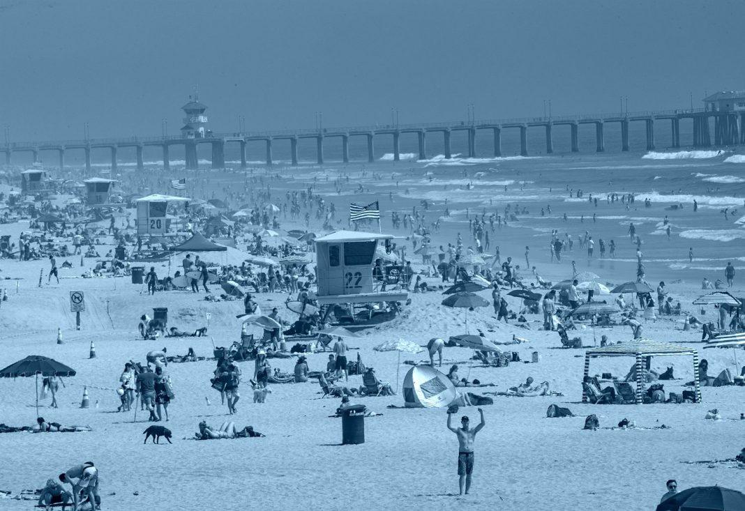 crowded beaches california coronavirus
