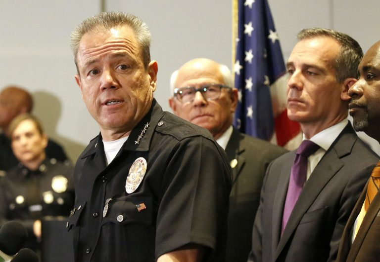 LAPD Chief Michel Moore Walks Back Unfortunate Remark About Looters