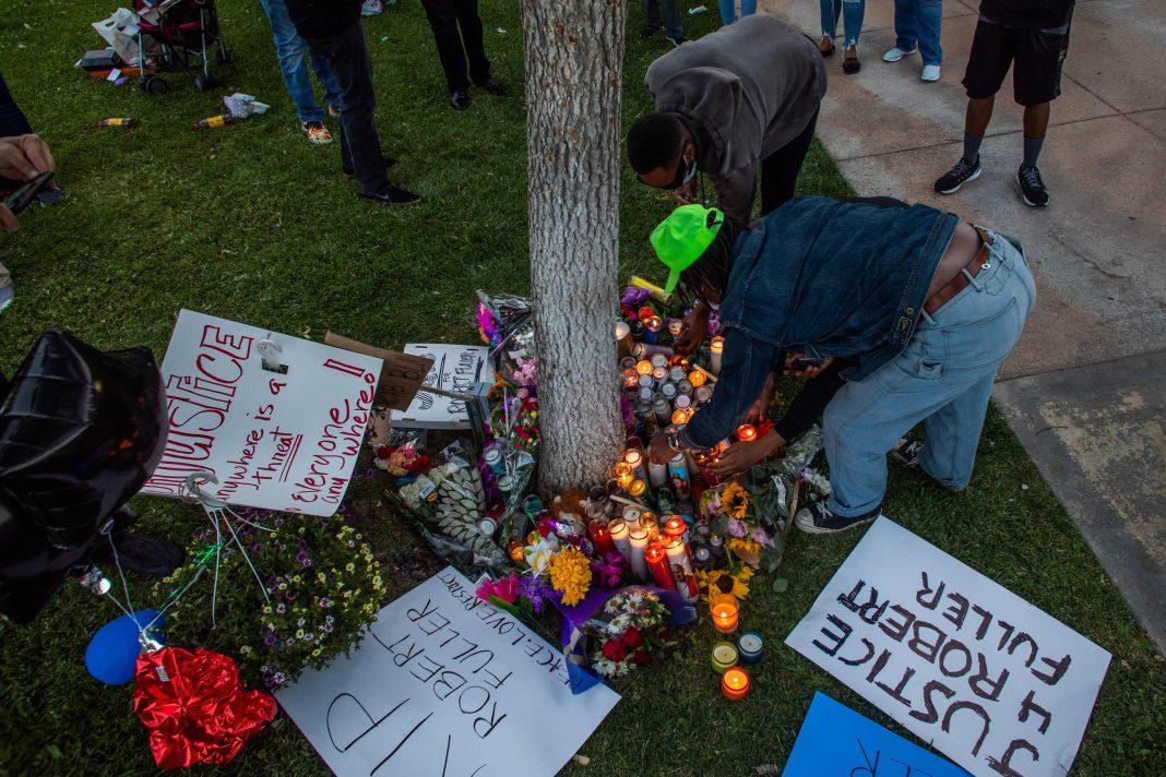 robert fuller protest vigil racism palmdale
