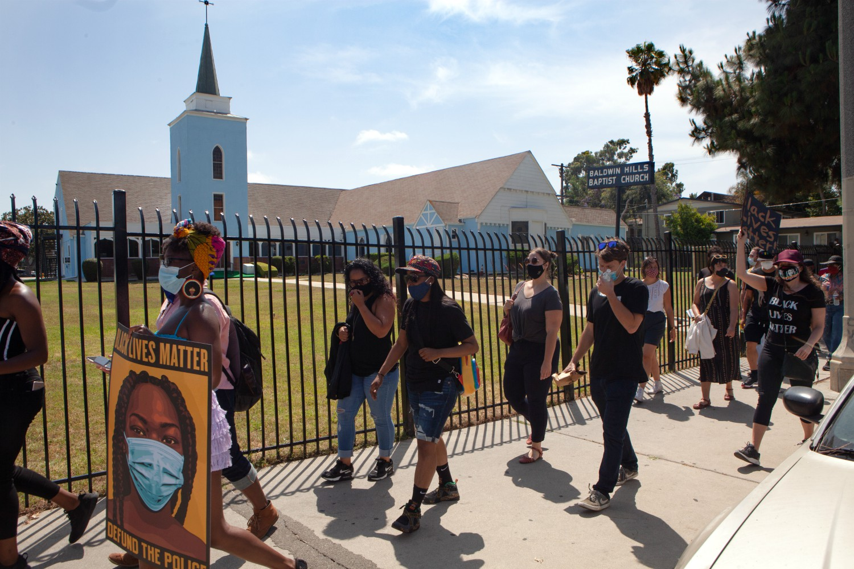 baldwin hills crenshaw plaza protest