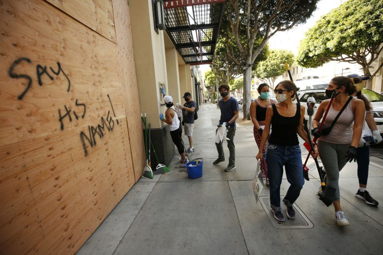 Woman Photographed Pretending to Put Up Plywood in Santa Monica Has Reportedly Been Canned