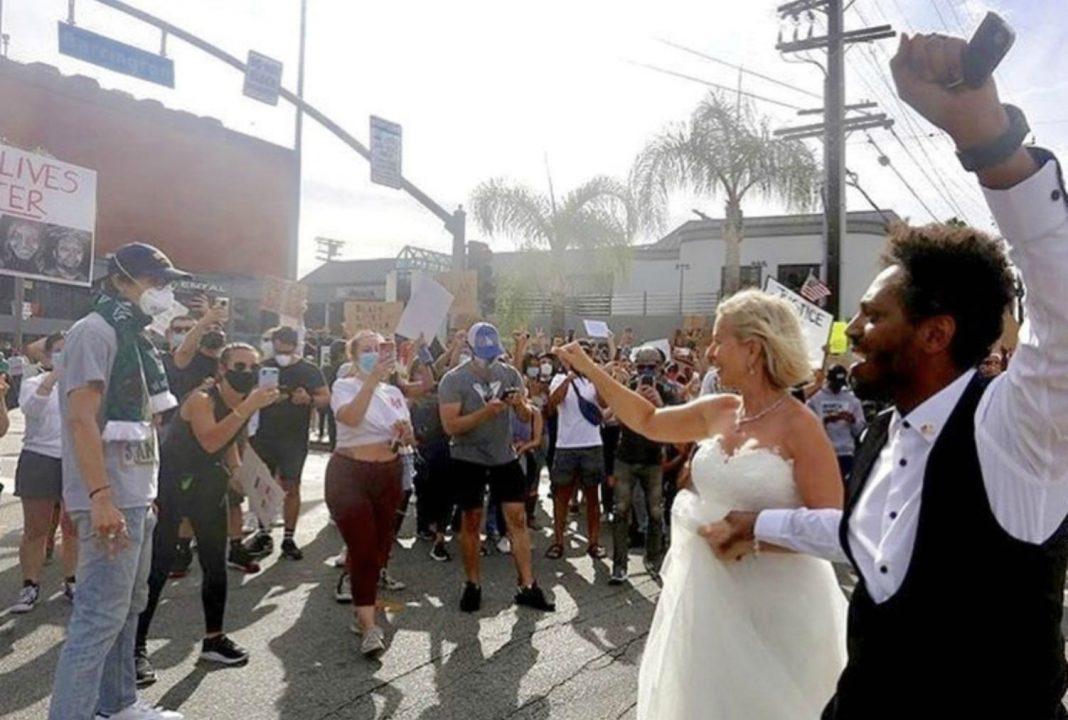 wedding protest