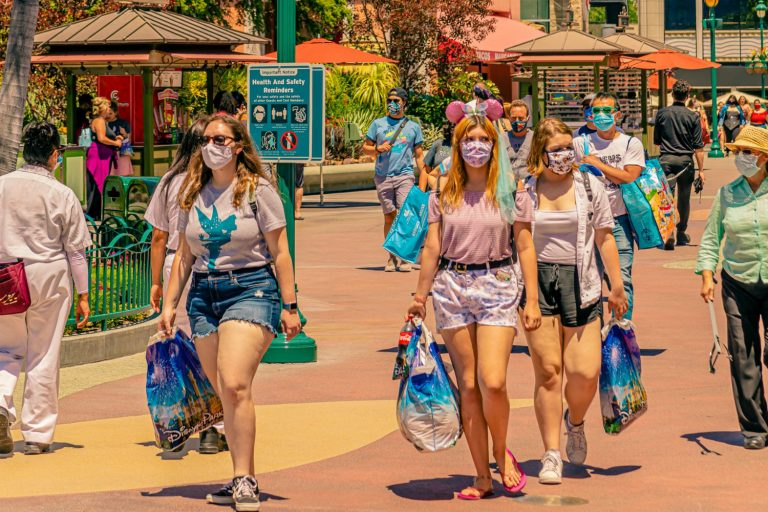 Scenes from Downtown Disney's Busy Opening Day