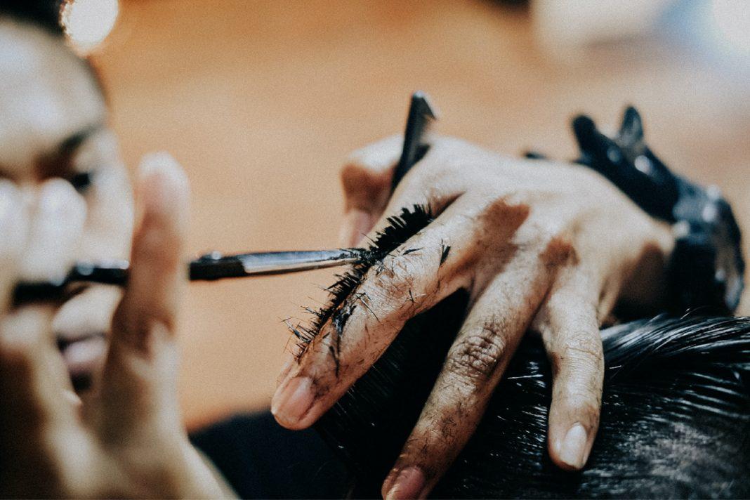 outdoor haircut hair salon barber