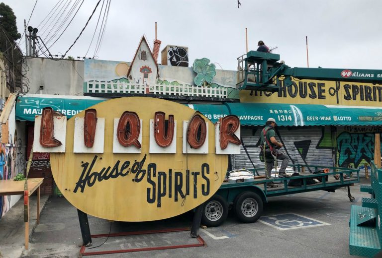 Echo Park's Iconic House of Spirits Sign Has Been Rescued by the Museum of Neon Art