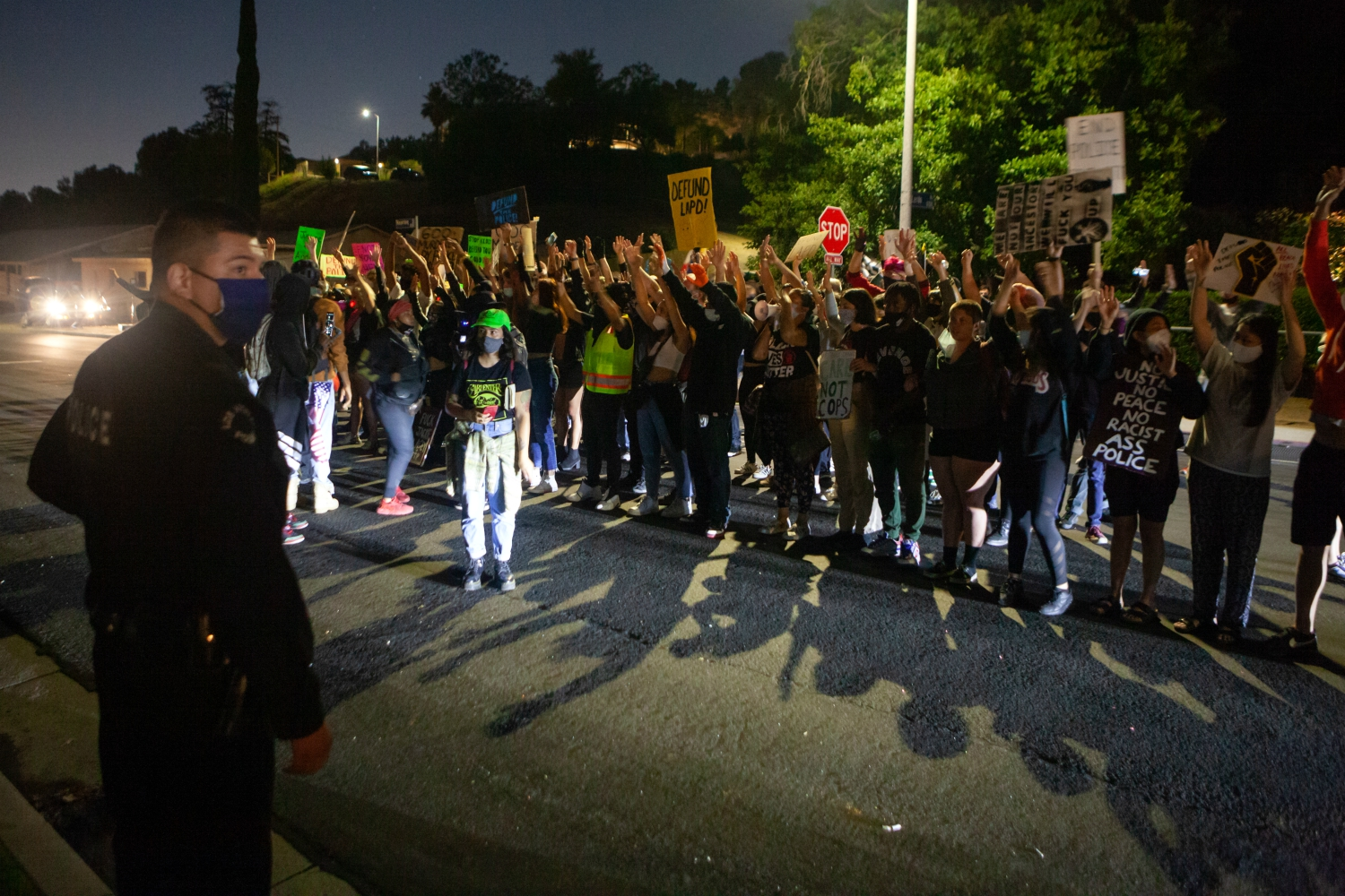 Protesters Staged a Nighttime Demonstation at DA Jackie Lacey's House
