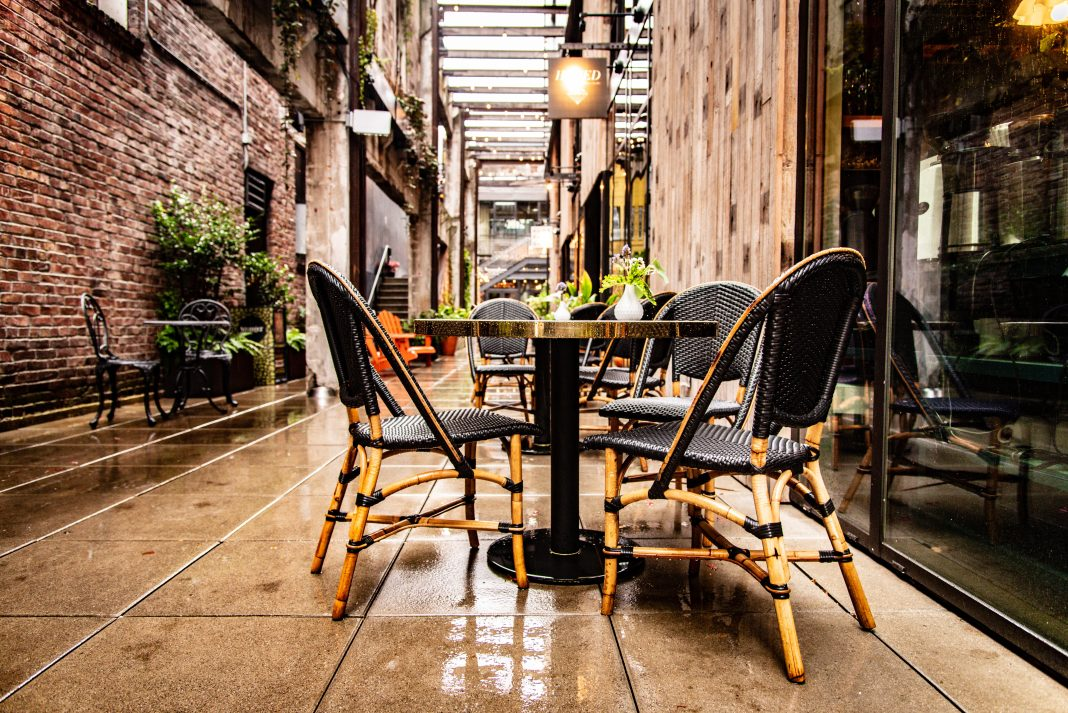 is it ok to eat at restaurants patio dining outdoor table
