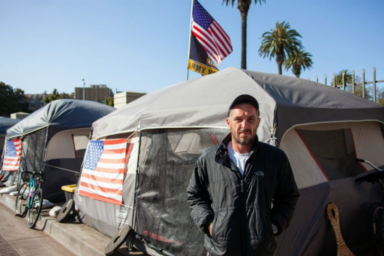 Inside Veterans Row, the Tent City That's Sprung Up Outside the VA