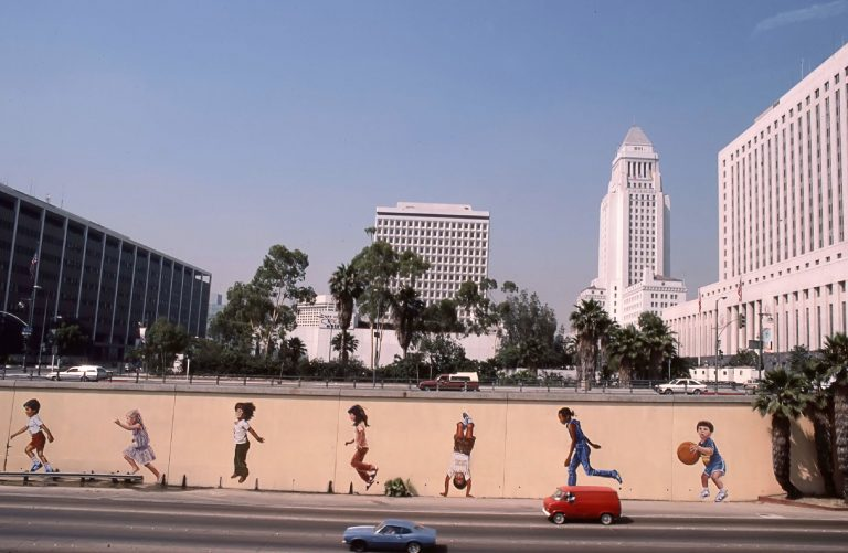 Who Are Those Kids Frolicking on the Walls of the Hollywood Freeway Downtown?