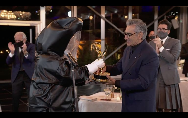 Those Emmy Hazmat Suits Were Created by a Major Hollywood Costume Designer