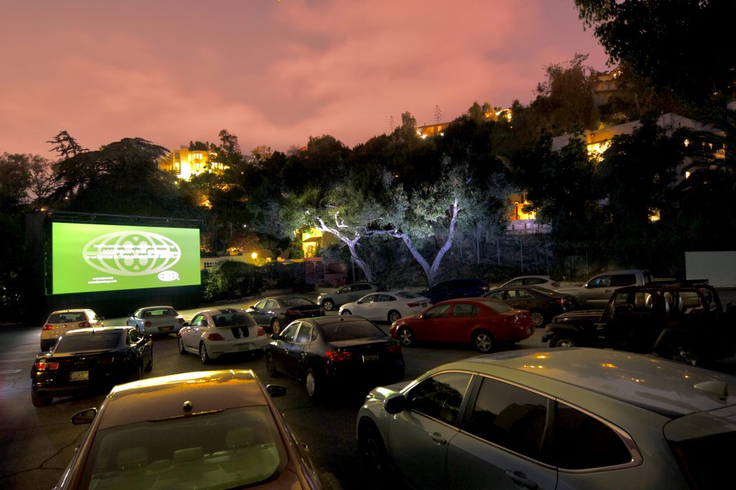 drive in movie pop up los angeles