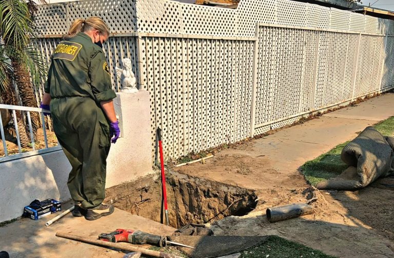 Police Are Investigating Human Bones Found Beneath a Sidewalk in Orange County