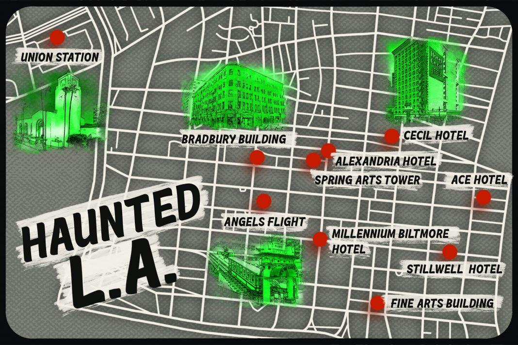 haunted los angeles ghosts of la map