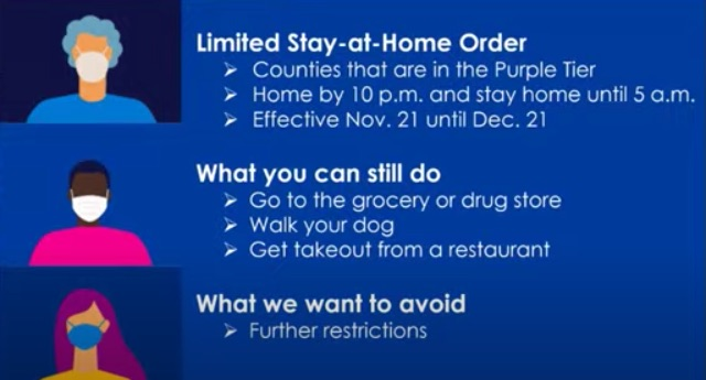 stay at home curfew order