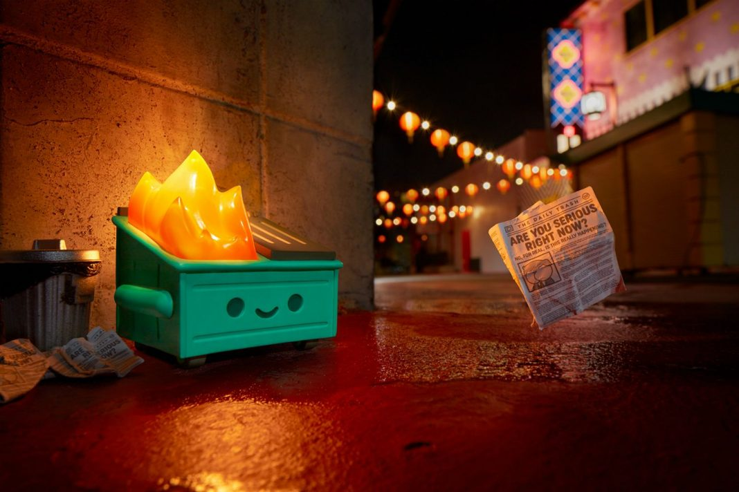 How an Adorable, Grinning Dumpster Fire Became a Symbol for 2020