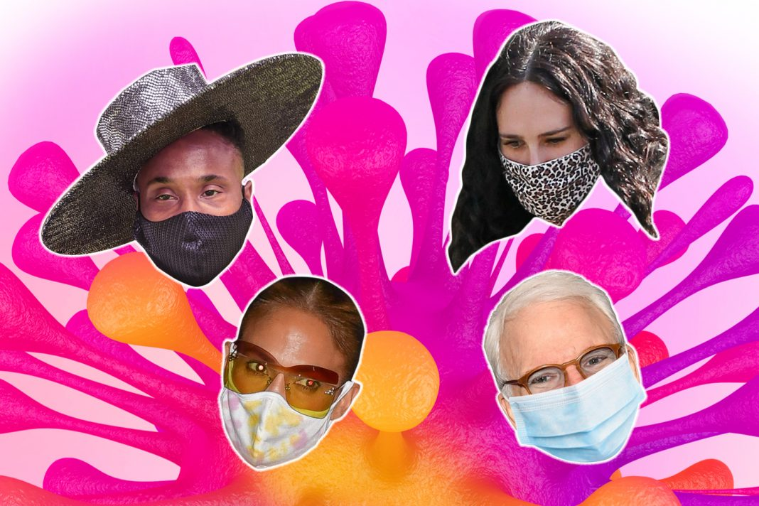 celebrities in masks